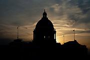Sunset views of the Minnesota State Capitol in Saint Paul, Minnesota, on Monday, Jan. 25, 2021.