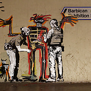 20170918-Banksy Artwork featuring Basquiat at the Barbican Centre - London