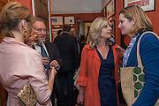 PETRONELLA WYATT; PETER MCKAY; RACHEL JOHNSON; AMBER RUDD, Elliott and Thompson host a book launch of How the Queen can Make you Happy by Mary Killen.- Book launch. The O' Shea Gallery. St. James's St. London. 20 June 2012.