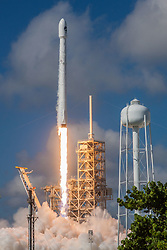 September 7, 2017 - Kennedy Space Center, Florida, U.S. - Orbital Test Vehicle 5 Mission Launch. The 45th Space Wing successfully launched a SpaceX Falcon 9 launch vehicle at 10 a.m. on Sept. 7, 2017, from Kennedy Space Center's Launch Complex 39A. At approximately eight minutes after the launch, SpaceX successfully landed the Falcon 9 first-stage booster at Landing Zone 1 on Cape Canaveral Air Force Station. The Falcon 9 rocket carried into orbit an X-37B Orbital Test Vehicle (OTV), marking the fifth space flight for the X-37B program and its first onboard a Falcon 9. (Credit Image: © Space X/ZUMA Wire/ZUMAPRESS.com)