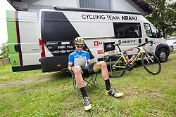 Nik Cemazar of Slovenija National Team prior to 3rd Stage of 25th Tour de Slovenie 2018 cycling race between Slovenske Konjice and Celje (175,7 km), on June 15, 2018 in  Slovenia. Photo by Vid Ponikvar / Sportida