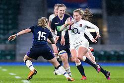 Emily Scott of England Women takes on Chloe Rollie of Scotland Women - Mandatory by-line: Robbie Stephenson/JMP - 16/03/2019 - RUGBY - Twickenham Stadium - London, England - England Women v Scotland Women - Women's Six Nations
