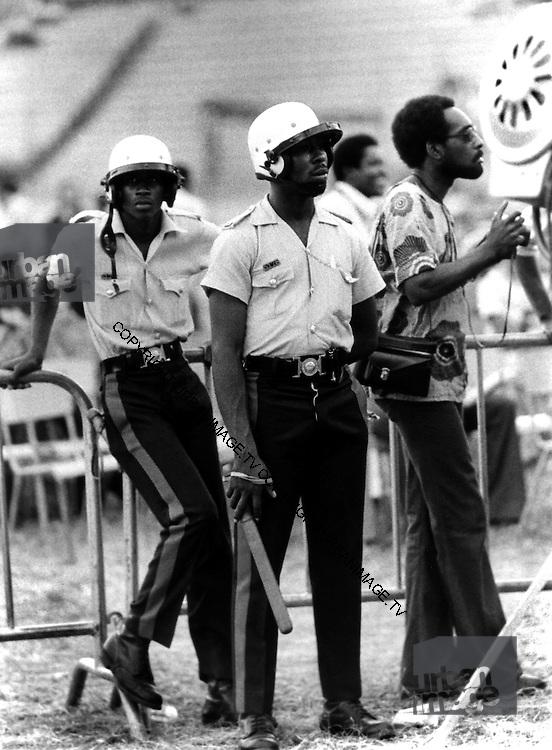 Police at Reggae Sunsplash 1979