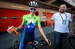Tadej Pogacar, Martin Hvastija of Team Slovenia during Practice session at UCI Road World Championship 2020, on September 25, 2020 in Imola, Italy. Photo by Vid Ponikvar / Sportida
