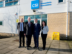 Helping Businesses Prepare For Brexit, Livingston, Thursday 1st November 2018<br />  <br /> Constitutional Relations Secretary Michael Russell launched a new dedicated online domain and a specially designed Brexit self-assessment tool in Livingston.<br /> <br /> The self-assessment tool will help businesses identify how Brexit might affect them, providing bespoke recommendations for action to help their planning activities. It will also be home to the Brexit toolkit, 15-point checklist, news, articles, access to experts and event listings.<br /> <br /> The launch was made during a visit to CSI Group (Complete Storage Interiors) in Livingston where Mr Russell talked to the company about the challenges Brexit poses for business, particularly SMEs.<br /> <br /> Pictured: CSI Group Managing Director Robert Kennedy (2nd right) and Michael Russell (2nd left) with members of staff at CSI<br /> <br /> Alex Todd   Edinburgh Elite media