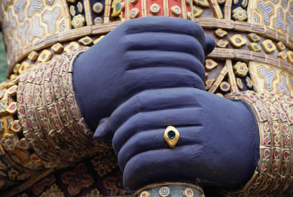 Bhudda statue detail at the Grand Palace in Bangkok, Thailand. Material World Project.