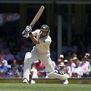 Michael Hussey batting during the Australia V Pakistan 2nd Cricket Test match at the Sydney Cricket Ground, Sydney, Australia, 6 January 2010. Photo Tim Clayton