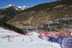 March 15, 2019 - Andorra - Christina GEIGER and Erin MIELZYNSKI in race of the Alpine Team's race, Audi Fis Alpine Ski World Cup, Finals Round, on March 15, 2019 in Soldeu - El Tarter, Andorra (Credit Image: © AFP7 via ZUMA Wire)