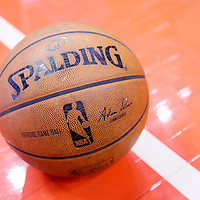 21 April 2014: Official Game ball during the Los Angeles Clippers 138-98 victory over the Golden State Warriors, during Game Two of the Western Conference Quarterfinals of the NBA Playoffs, at the Staples Center, Los Angeles, California, USA.