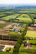Nederland, Noord-Brabant, Gemeente Boxtel, 27-05-2013; De Scheeken, ten westen van Sint-Oedenrode. Varkensboerderijen. <br /> Ruilverkaveling De Scheeken maakt deel uit van het Nationale Landschap het Groene Woud. Het gebied was voor de ruilverkaveling sterk versnipperd en kende een gebrekkige ontwatering. Ruilverkaveling uitgevoerd in de jaren veertig van de vorige eeuw, wederopbouwperiode. Het onderliggende landschapsplan hield rekening met streekeigen karakter van het cultuurlandschap.<br /> National Landscape Groene Woud (Green Forest). The area was fragmented before land consolidation and had a poor drainage. Land consolidation took place in the forties of the last century, reconstruction period. The landscape plan took into account the typical local character of the landscape.<br /> luchtfoto (toeslag op standard tarieven)<br /> aerial photo (additional fee required)<br /> copyright foto/photo Siebe Swart