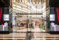 Hervey Nichols store in the  new Prestige luxury arcade with high-end boutiques inside The Avenues shopping mall in Kuwait City, Kuwait