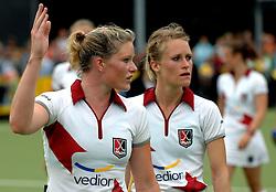20-05-2007 HOCKEY : FINALE PLAY OFF: DEN BOSCH - AMSTERDAM: DEN BOSCH <br /> Den Bosch voor de tiende keer op rij kampioen van de Rabo Hoofdklasse Dames. In de beslissende finale versloegen zij Amsterdam met 2-0 / Miek van Geenhuizen en Jiske Snoeks<br /> ©2007-WWW.FOTOHOOGENDOORN.NL