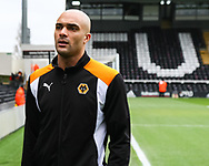 Carl Ikeme of Wolverhampton Wanderers before the Sky Bet Championship match at Craven Cottage, London<br /> Picture by Richard Brooks/Focus Images Ltd 07947656233<br /> 18/03/2017