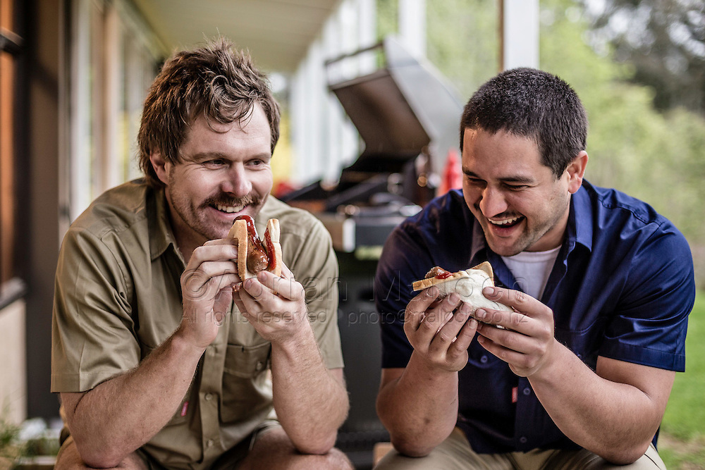 Model Ryan Buchanan & Actor Will Hall model Stubbies workwear in support of Movember.<br /> Photography commissioned by Lassoo Media/PR for a social media campaign.