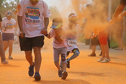 June 17, 2017 - Beijing, Beijing, China - Beijing, CHINA-June 17 2017: (EDITORIAL USE ONLY. CHINA OUT)..About 10,000 runners enjoy themselves at the Color Run 2017 in Beijing, June 17th, 2017. The Color Run, called as the happiest five-mile running in the world, aims to advocate the concept of happy and healthy running. (Credit Image: © SIPA Asia via ZUMA Wire)