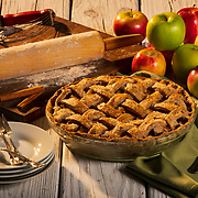 Triple-Apple Pie with Whole Wheat Lattice Crust. <br /> Nathan Lambrecht/Journal Communications