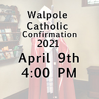 St Mary Confirmation 04-09-21 400 PM
