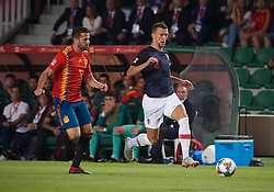 September 11, 2018 - Elche, U.S. - ELCHE, SPAIN - SEPTEMBER 11: Ivan Perisic, midfielder of Croatia competes for the ball with Nacho defender of Spain during the UEFA Nations League A Group four match between Spain and Croatia on September 11, 2018, at Estadio Manuel Martinez Valero in Elche, Spain. (Photo by Carlos Sanchez Martinez/Icon Sportswire) (Credit Image: © Carlos Sanchez Martinez/Icon SMI via ZUMA Press)