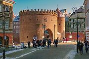 Barbakan, Stare Miasto w Warszawie, Polska<br /> Barbican, Old Town, Warsaw, Poland