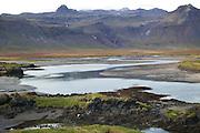 Icelandic landscape near Budir, Snaefellsnes, Iceland.