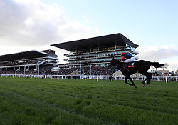 Black Cotton ridden by Bryony Frost in the Ryman Stationery Cheltenham Business Club Novices' Steeple Chase during day one of the Showcase at Cheltenham Racecourse