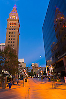 The D&F Tower on the 16th Street Mall, Denver, Colorado USA