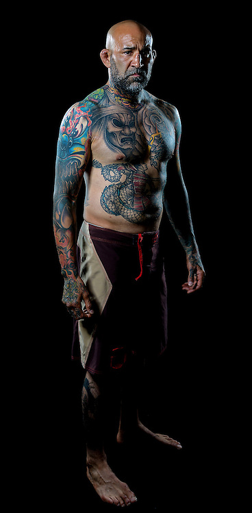Portrait of MMA Cage Fighter Aaron Romero taken for Prize Fighting Championship