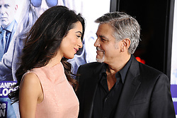 """File photo : George Clooney and Amal Clooney attend the premiere of Warner Bros. Pictures Our Brand Is Crisis at TCL Chinese Theatre in Los Angeles, CA,, USA, on October 26, 2015. Amal Clooney and her husband George are expecting twins, US media report. The babies are due in June, according to CBS's The Talk host Julie Chen. Another source close to the couple, quoted by People, said they were """"very happy"""". The Clooneys' representatives have not yet commented. Photo by Lionel Hahn/ABACAPRESS.COM"""