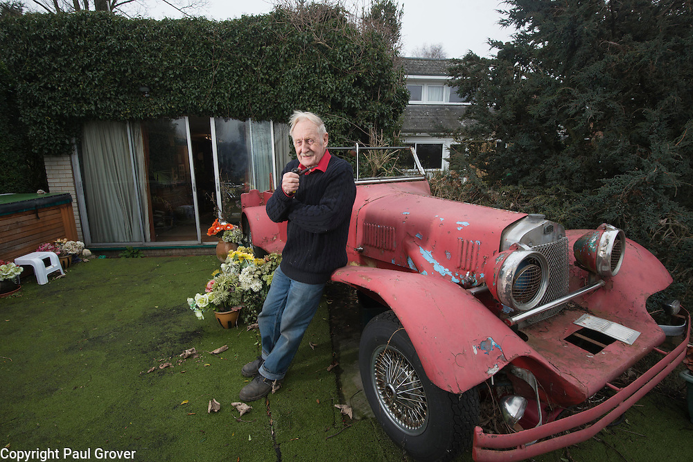 Eel Pie Island,Twickenham.Pic Shows Inventor Trevor Bayliss in the garden overlooking the river at his home on the Island