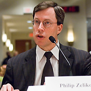 """Philip Zelikow. Commission staffers present Staff Statement No. 16, """"Outline of the 9/11 Plot."""" The 9/11 Commission's 12th public hearing on """"The 9/11 Plot"""" and """"National Crisis Management"""" was held June 16-17, 2004, in Washington, DC."""