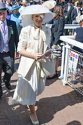 HRH PRINCESS MICHAEL OF KENT at the Investec Derby 2015 at Epsom Racecourse, Epsom, Surrey on 6th June 2015.