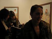 Daisy de Villeneuve ( BEHIND ) and Poppy de Villeneuve. David Hockney exhibition opening, Annely Juda Gallery. 15 January 2003. © Copyright Photograph by Dafydd Jones 66 Stockwell Park Rd. London SW9 0DA Tel 020 7733 0108 www.dafjones.com