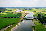 Nederland, Gelderland, Gemeente Utrechtse Heuvelrug, 26-06-2013; brug voor autoverkeer A50 over de Neder-rijn tussen Renkum en Heteren.<br /> Motorway A50, bridge across the Lower Rhine, west of Arnhem.<br /> luchtfoto (toeslag op standaard tarieven);<br /> aerial photo (additional fee required);<br /> copyright foto/photo Siebe Swart.