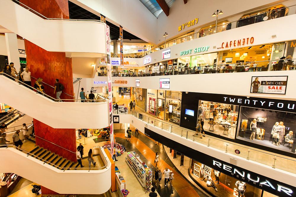 A general view inside Dizengoff Center, Israel's first shopping mall in Tel Aviv's Merkaz Hair neighborhood