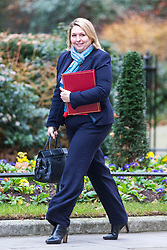 © Licensed to London News Pictures. 15/01/2019. London UK. Karen Bradley arrives for the Cabinet meeting this morning ahead of todays vote on Theresa May's Brexit deal. Photo credit: Andrew McCaren/LNP