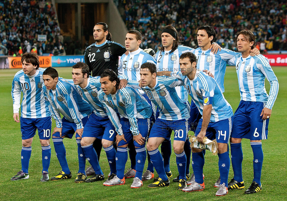 27-06-2010 VOETBAL: FIFA WORLDCUP 2010 ARGENTINIE - MEXICO: JOHANNESBURG <br /> Team of Argentina  <br /> ©2010-FRH- NPH/ MVid Ponikvar (Netherlands only)