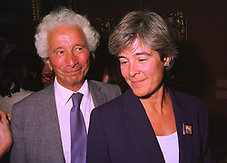 MR & MRS ROBERT GAVRON he is the printing multi-millionaire, at an exhibition in London on 3rd September 1998.MJO 82