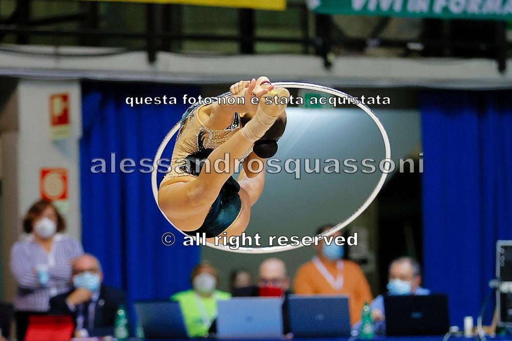 Alessia Russo dell' Armonia D'Abruzzo gareggia al campionato Italiano di Ginnastica Ritmica il 15 Ottobre a Desio.