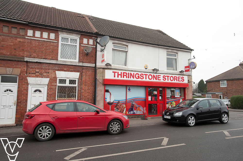 Pictured is the outside of Thringstone Post Office<br /> <br /> Thringstone Post Office, 19-23 Loughborough Road, Thringstone, Leicestershire.<br /> Date: January 23, 2015