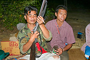 Thai hunter with his rifle