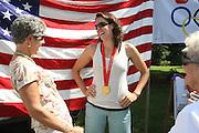 Gold medalist Lindsay Shoop talks to fans in Charlottesville, VA