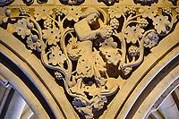 France, Manche (50), Baie du Mont Saint-Michel classé Patrimoine Mondial de l'UNESCO, Abbaye du Mont Saint-Michel, le cloitre // France, Normandy, Manche department, Bay of Mont Saint-Michel Unesco World Heritage, Abbey of Mont Saint-Michel, the cloister