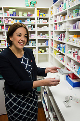 Pictured: Kezia Dugdale<br /> <br /> The Scottish  Labour leader Kezia Dugdale visited pharmacy in Edinburgh today and took the opportunity to  discuss plans on Scotland's GP situation. <br /> <br /> Ger Harley   EEm 25 April 2016