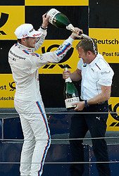 21.05.2016, Red Bull Ring, Spielberg, AUT, DTM, Red Bull Ring Spielberg, Rennen, im Bild Marco Wittman (GER / BMW Team RMG) und Teammanager Stefan Reinhold // during the race of the DTM at the Red Bull Ring, Spielberg, Austria on 2016/05/21, EXPA Pictures © 2016, PhotoCredit: EXPA/ Erwin Scheriau