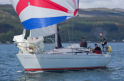 Pelle P Kip Regatta 2019 Day 1<br /> <br /> Light and bright conditions for the opening racing on the Clyde keelboat season<br /> <br /> GBR8856Y, Mayrise, James Miller, Helensburgh SC