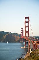 Golden Gate Bridge in San Francisco, California.
