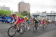 Mcc0055084 . Daily Telegraph<br /> <br /> England's Lizzie Armitstead leads the Women's Road Race up the steep incline on Montrose Street on Day 11 of the 2014 Commonwealth Games in Glasgow .<br /> <br /> <br /> Glasgow 3 August 2014