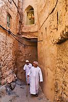 Sultanat d'Oman, gouvernorat de Ad-Dakhiliyah, les monts Hajar, le village de Misfat al Abriyyin au pied du Djebel Shams // Sultanate of Oman, Ad-Dakhiliyah Region, village of Misfat al Abriyyin