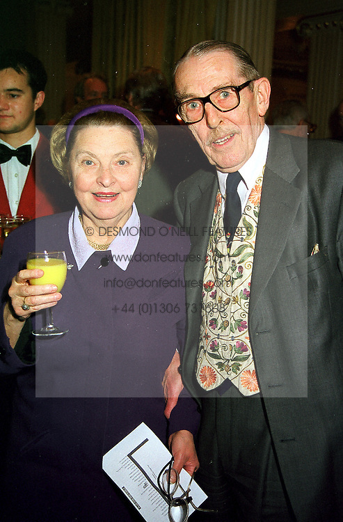 LORD & LADY HARRIS OF HIGH CROSS, at a luncheon in London on 23rd February 2000.OBJ 60