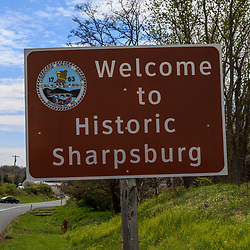 Welcome to Historic Sharpsburg Sign.